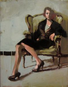 Girl in green chair, Michael Carson