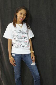 White- Keep It 100 shirt