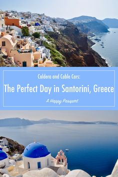 Caldera & Cable Cars: The Perfect Day in Santorini Greece #santorini #greece #cruise #cruiseport #oia #fira #caldera #travel #europe