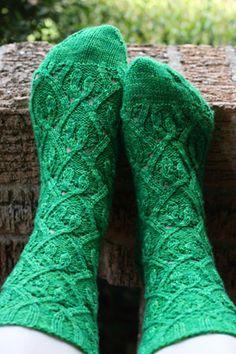Hanging Vines Socks: K