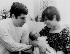 Barbara Streisand, Elliot Gould and their son.