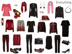 Capsule Wardrobe Packing Outfit by Outfit: Pink, Maroon and Black, for Business Travel | The Vivienne Files