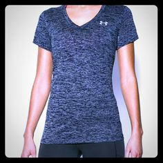 UNDER ARMOUR PURPLE V NECK T  LG Excellent condition, was only worn a few times. Very soft lightweight fabric feels feathery soft against your skin. Under Armour Tops Tees - Short Sleeve