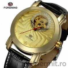 Ceas Business automatic marca Forsining Luxury Watches For Men, Mechanical Watch, Automatic Watch, Luxury Branding, Leather Men, Unisex, Wristwatches, Gold, Gifts