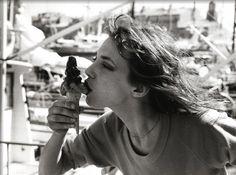 Jane Birkin by the Saint-Tropez Harbor, 1977