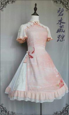 here be dragons Style Lolita, Gothic Lolita Fashion, Gothic Fashion, Kawaii Fashion, Cute Fashion, Vintage Fashion, Rock Fashion, Pretty Outfits, Pretty Dresses