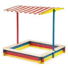 """Dieser """"Gartenzeit Sandkasten"""" bietet Spielspaß und Schutz vor der Sonne zugleich."""