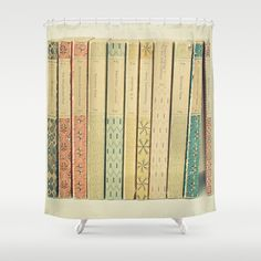 Old+Books+Shower+Curtain+by+Cassia+Beck+-+$68.00
