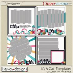 New template kit, It's A Cut, is now available and on sale for 30% off until Feb 27th.
