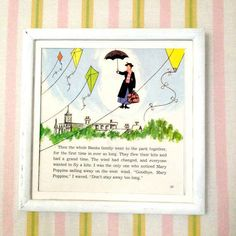 It's so easy to frame vintage storybook pages.