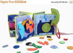 80 Soft book - Toddler's Quiet Book - activity book - Felt toys - Educational Toys - Montessori toys - Travel toys - children's books - eco