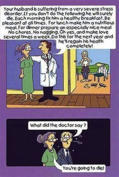 Man Asks His Wife What The Dr. Said But Never Expected This Reply. funny comics jokes story lol funny quote funny quotes funny sayings joke hilarious humor stories marriage humor funny jokes Funny Cartoon Jokes, Best Funny Jokes, Cartoon Quotes, The Funny, Funny Quotes, Funny Memes, Humor Quotes, Cartoon Pics, Qoutes