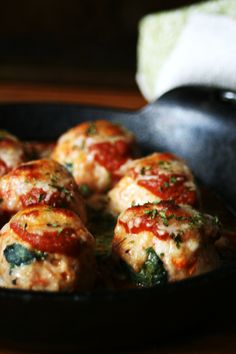 Baked Sun-Dried Tomato and Spinach Chicken Parmesan Meatballs