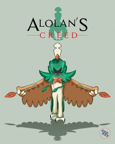 Decidueye as an assassin... Rowlet is definitely my first starter pick for Sun and Moon!! Ghost stilt owl who's an archer! Give me the Sun and the Moon! FOR ALOLAN'S CREED T-SHIRTS AND...