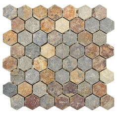 Merola Tile Crag Hexagon Sunset 11-1/8 in. x 11-1/8 in. Slate Mosaic Floor and Wall Tile-GDXCHXS at The Home Depot