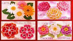 Como tejer a gancho crochet flores margaritas de colores en capas rellen...
