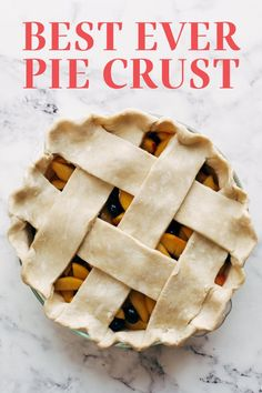 How to Make the Best Ever Pie Crust with all the tips and tricks for a flaky beautiful crust that impresses your friends and family! This easy homemade, from-scratch pie crust recipe is made with butter and is WAY better than store bought. This will be a hit on the Thanksgiving or holiday dessert table! Pie Crust Recipes, Tart Recipes, Best Dessert Recipes, Fun Desserts, Baking Recipes, Pie Crusts, Cheese Appetizers, Appetizer Recipes, Thanksgiving Side Dishes