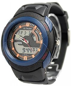 Black Watchcase Date BackLight Men Dual Time Elegant Analog Digital Watch AW376A >>> You can find more details by visiting the image link.Note:It is affiliate link to Amazon.