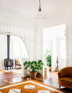 Un intérieur californien - Blueberry Home Blueberry Home, Queenslander House, Living Room Decor, Living Spaces, Dressing Room Design, Decoration Inspiration, Design Inspiration, Decor Ideas, Room Ideas