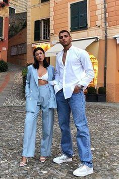 Celebrity Style and Fashion Tips - Today's Style Secret for Harper's BAZAAR Kourtney Kardashian, Estilo Kardashian, Kardashian Style, Matching Couple Outfits, Matching Couples, Cool Outfits, Fashion Outfits, Fashion Tips, Fashion Bloggers