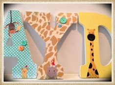 Safari. Lambs and Ivy. Nojo. Nursery wall Letters for ... | Cake Room
