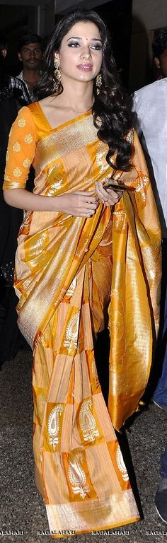 Tamanna Style Saree | For More collection of #Celebrity #Saree #Collection @ www.prafful.com