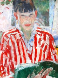 'Nel, reading' - - by Rik Wouters, Belgian artist | Nel is the painter's wife.
