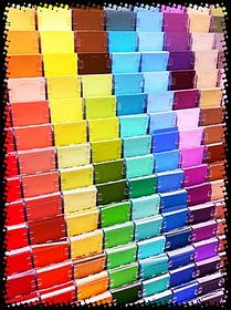 Ideas for using paint swatches in the classroom.