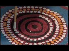 Janie Nakamarra aboriginal artist video- The Pumpkin Runner or Katy No-Pocket Dots Art, Aboriginal Dot Art, Australian Art, Culture Art, Multi Cultural Art, Art, Art Lessons Elementary