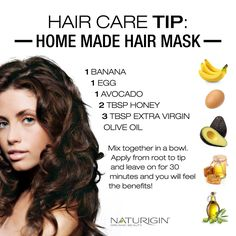 A nourishing mask for your hair