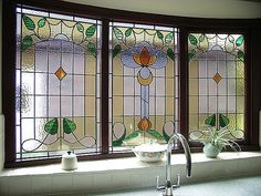 stained glass bathroom window | would love a leadlight window above the kitchen and in the bathrooms ...