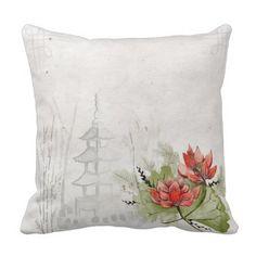 Japanese Art Throw Pillow