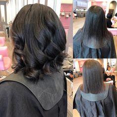 natural hair silk press
