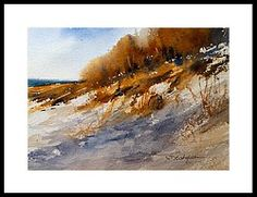 Winter Dune Framed Print by Sandra Strohschein