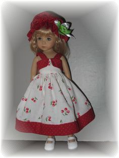 "Cherries Dots SUN Dress SET FOR Effner Little Darling RT 14"" Betsy Mccall 