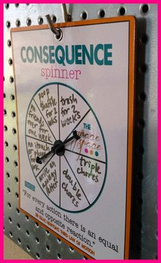 consequence spinner by fisherkids on Etsy We were so bad at coming up with spur-of-the-moment consequences for the Kids Routine Chart, Kids Schedule Chart, Summer Schedule, Morning Routine Chart, Daily Routine Chart For Kids, After School Schedule, Morning Routine Printable, Morning Routine Kids, Bedtime Routine