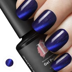 Gel polish - Magnetic - Navy: Our line of Magnetic Gel Polish uses a unique formula to create ravishing 3D designs in a matter of minutes. Get Your Magnetic Gel Polish Here ->> https://www.beaudome.com/collections/gel-polish/products/gel-polish-magnetic?utm_source=pinterest&utm_medium=pin&utm_campaign=pin-navy