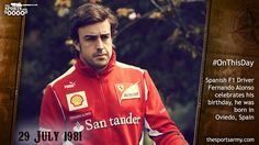 #Onthisday : @F1 Racer @alo_oficial  was born in Oviedo , Spain  Happy Birthday @alo_oficial ! #F1 #Alonso #Ashes2015