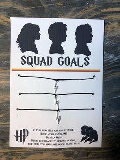 Harry Potter wish bracelet.Harry Potter Squad bracelet.Harry