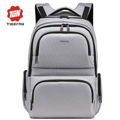 2017 New Tigernu Brand Waterproof Nylon Men s Backpacks Unisex Women  Backpack Bag for 15.6 Laptop Notebook Bag Mochila Feminina 963203de201cb