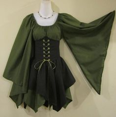 Pretty outfit, would be easy enough to make.