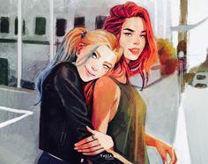 Harley Quinn + Poison Ivy #dc