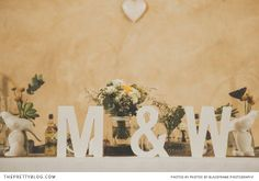 Megan & Waldo wedding decor by Love And Grace. Photo's by Blackframe Photography.
