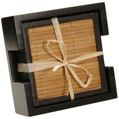 Thirstystone Bamboo Coaster Set with Wood Holder 6 Coasters Included by Thirstycoasters, http://www.amazon.com/dp/B002QP6NBW/ref=cm_sw_r_pi_dp_cOuorb1N13J9D