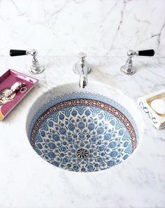 Beautiful baby blue bathroom sink