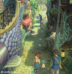 Town - Pictures & Characters Art - Ni No Kuni