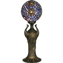 tiffany style peacock globe lamp