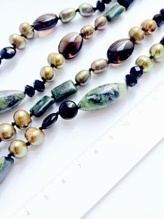 Jade, Pearl and Agate Luxury Statement Necklace Large Timeless Elegance, Statement Necklaces, Beautiful Necklaces, Agate, Beaded Bracelets, Deep, Pearls, Luxury, Jewelry
