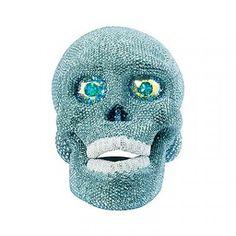Swarovski Decoration - Green Skull