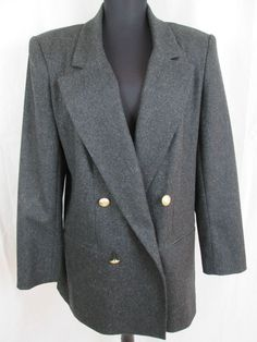 Sag Harbor Pure 100% Wool Gray Jacket Size 10 New #SagHarbor #BasicJacket